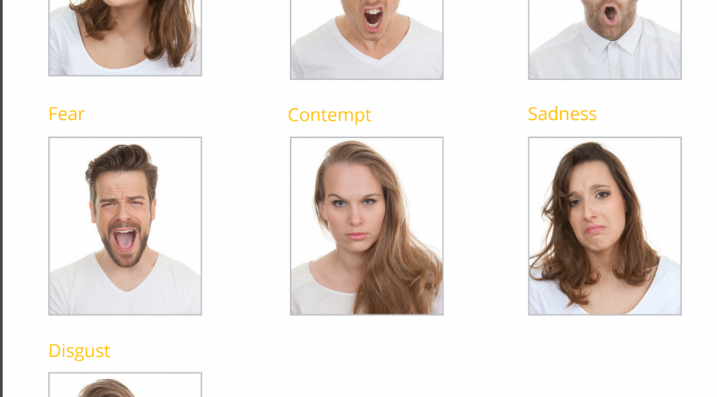 Image of faces showing the 7 emotions