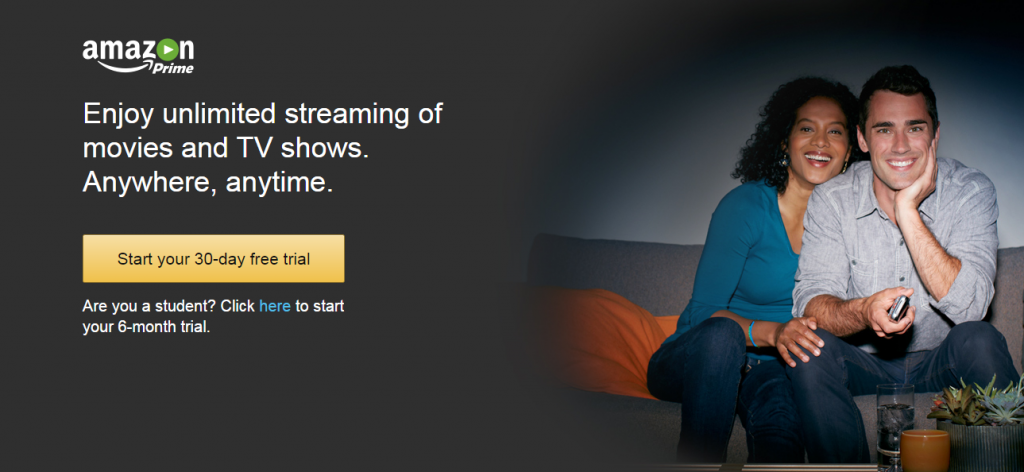 Image of Amazon Prime 30-day free trial offer