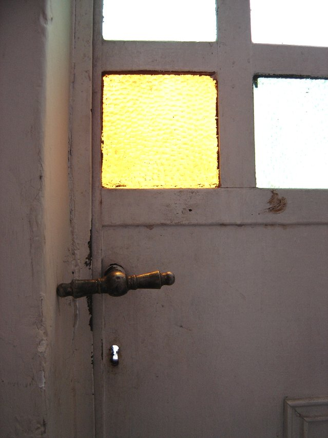 Image of a closed door