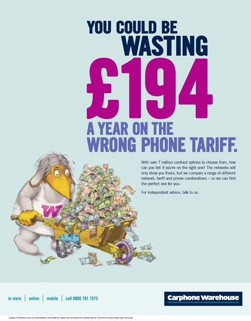 Image of Carphone Warehouse loss aversion advert