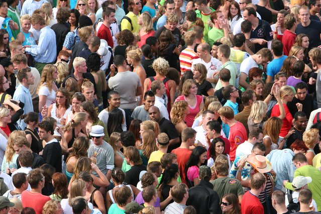 Image of a large crowd of people