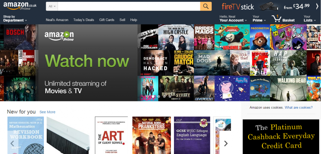 Amazon.co.uk homepage