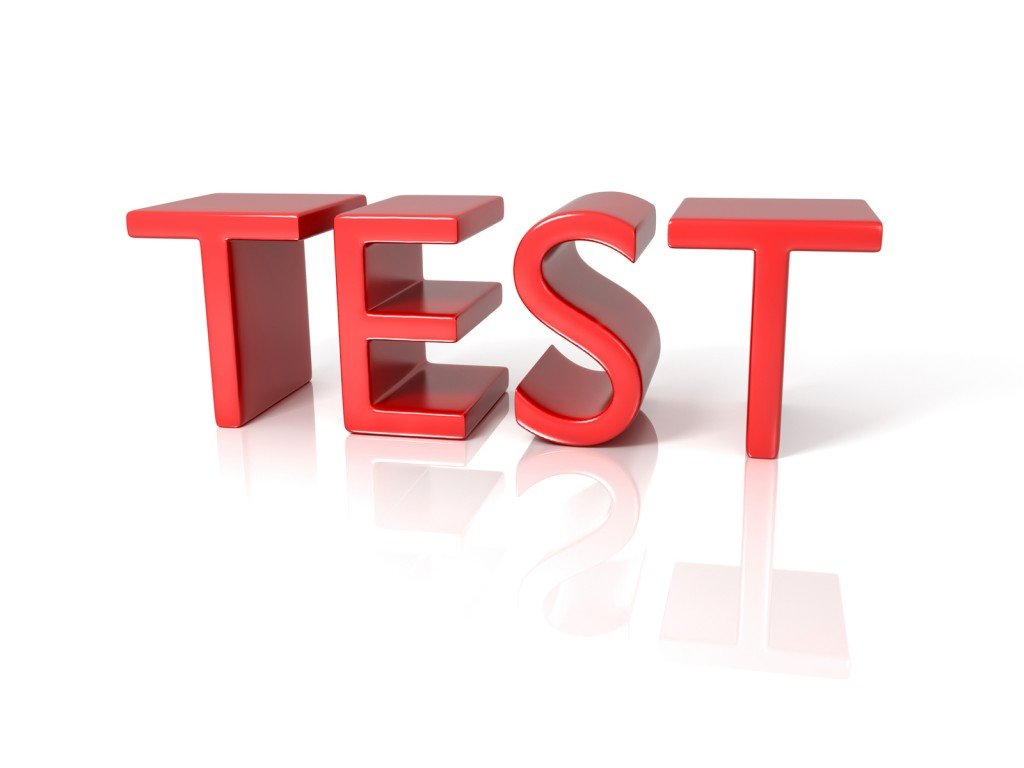 image of the word Test