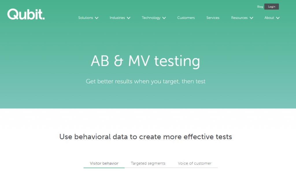Image of Qubit.com homepage