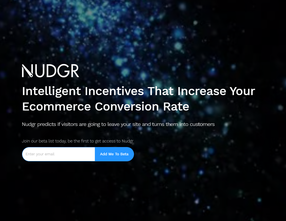 Image of NUDGR.io homepage