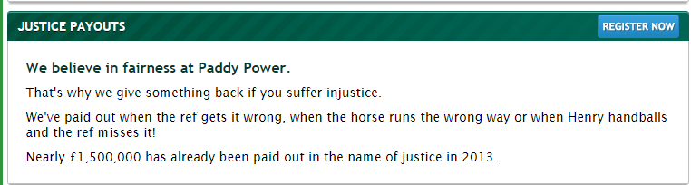 Image of humour in Paddypower copy