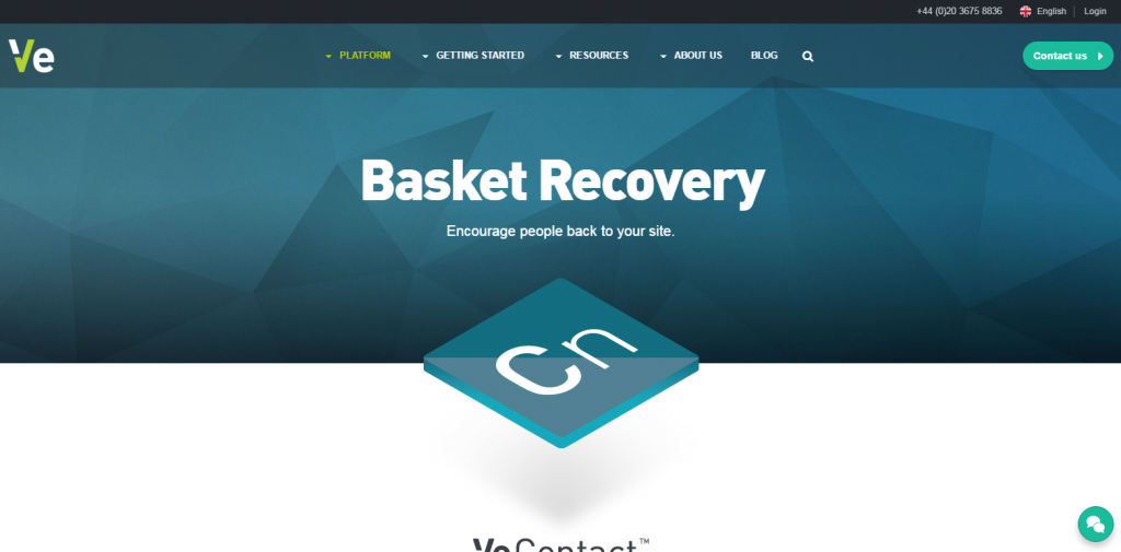 Image of veinteractive.com homepage