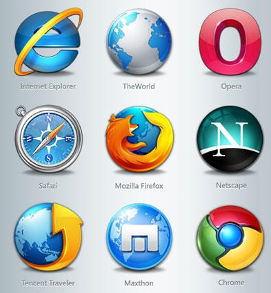 Images of browser logos