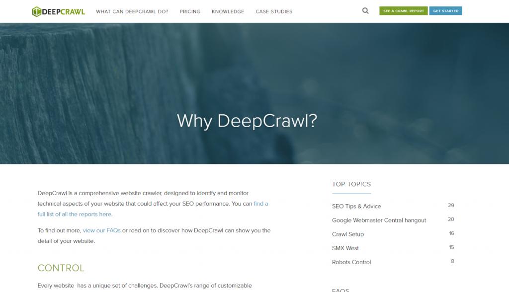 Deepcrawl page image