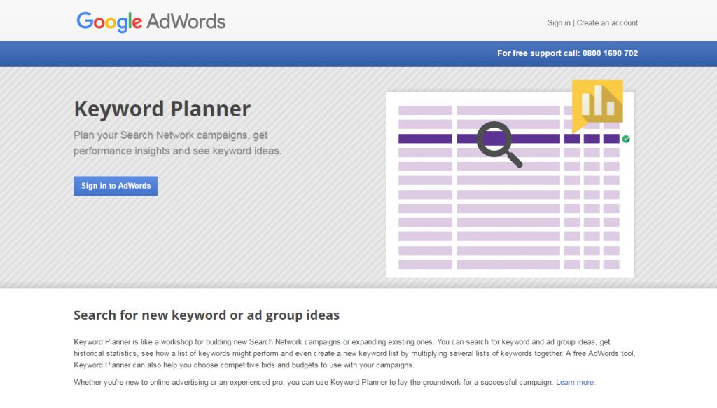 Google AdWords Keyword Planner image