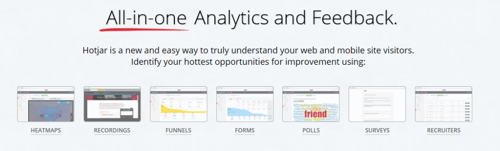 Hotjar Analytics homepage