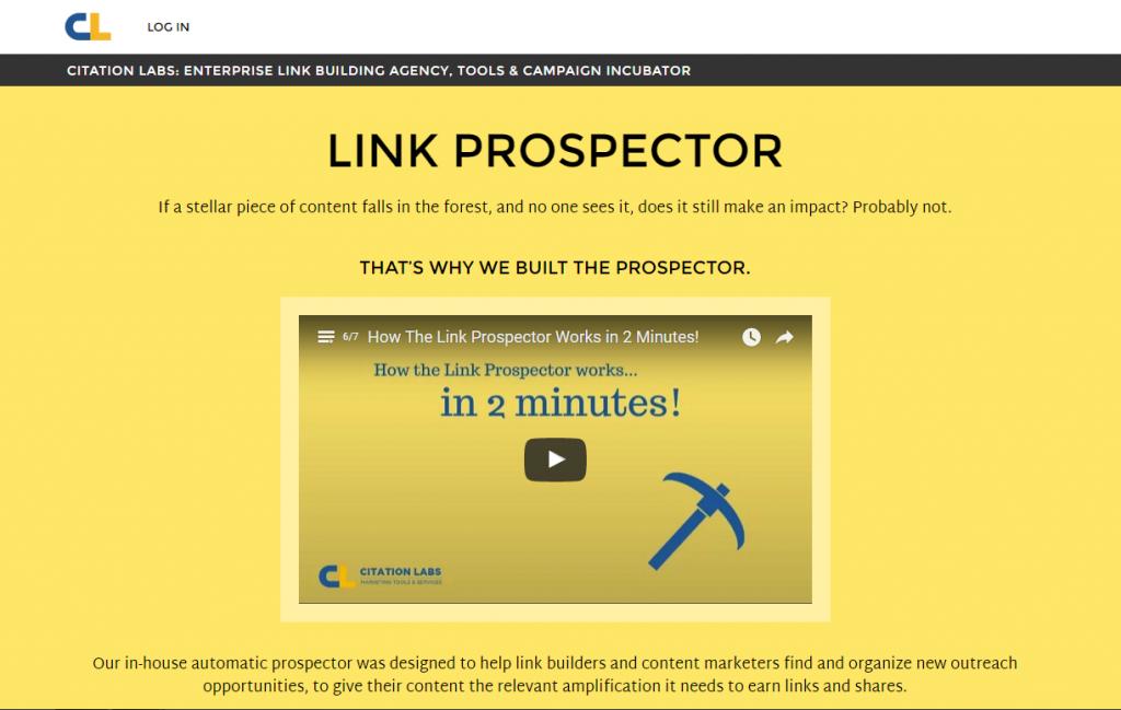 Link Prospector homepage image