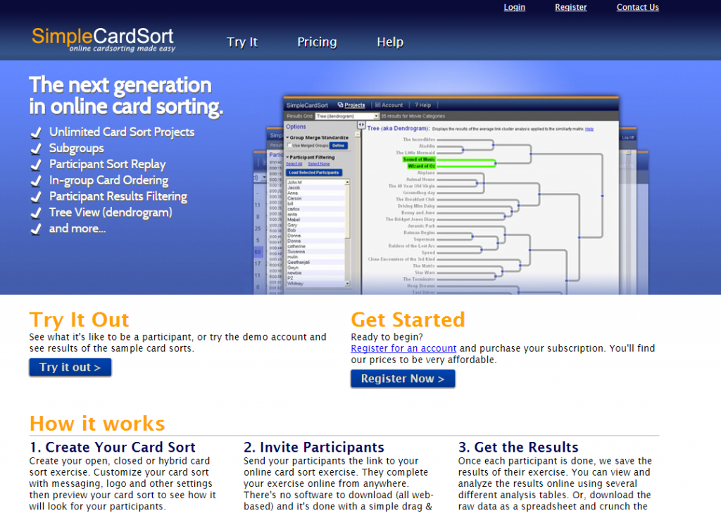 Image of SimpleCardSort.com