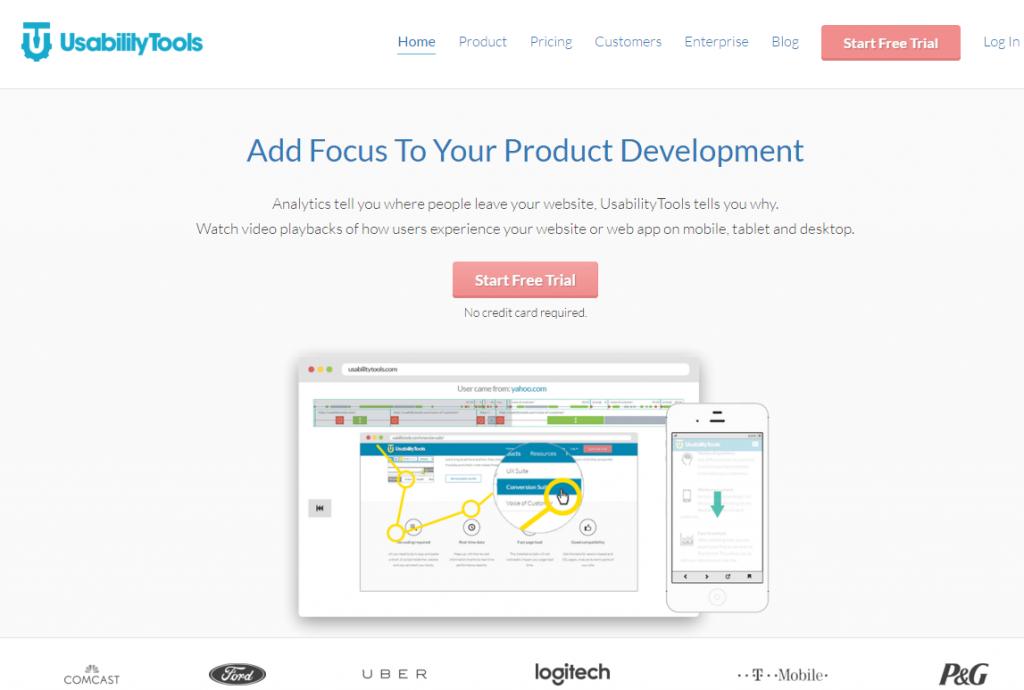 Image of UsabilityTools.com homepage