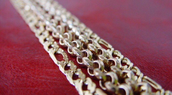 image of gold chain links