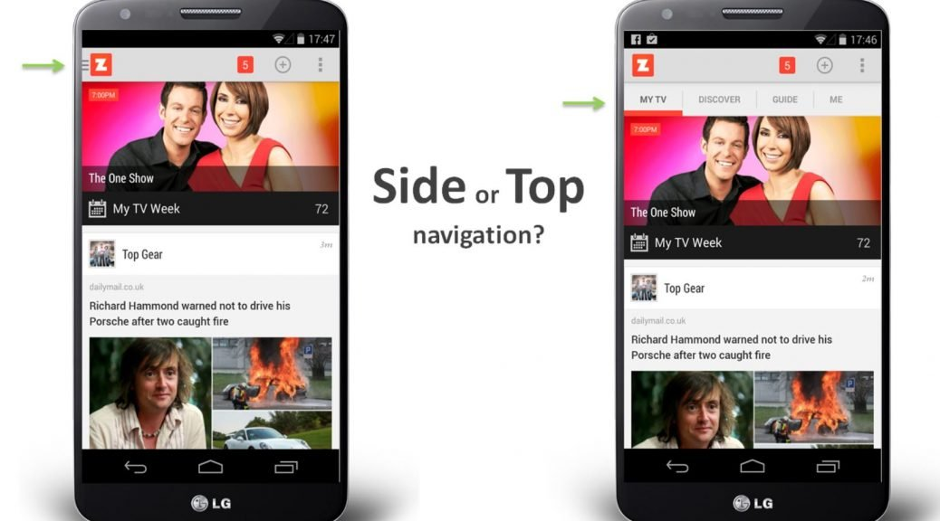 Side or top navigation - which is best?