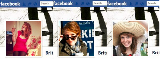 Image of Facebook profile photos showing cultural differences