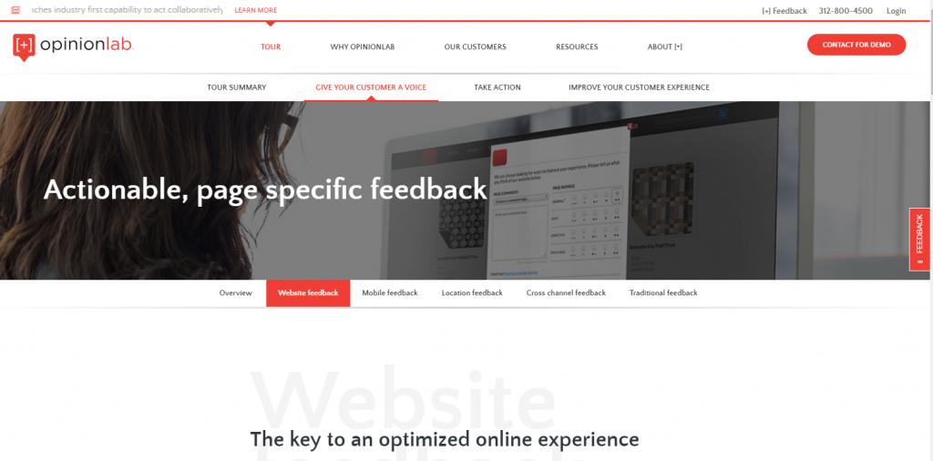 Oopinionlab.com homepage