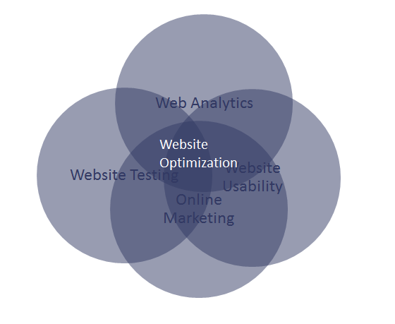 Disciplines required for website optimization