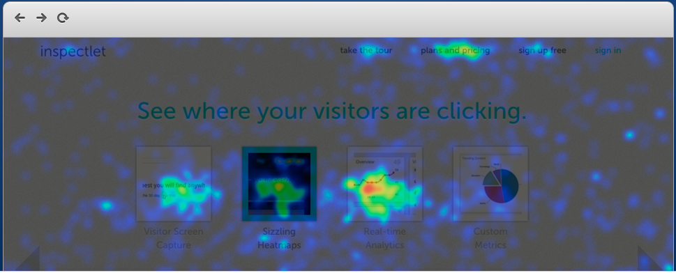 Image of Click Heatmap from Inspectlet.com