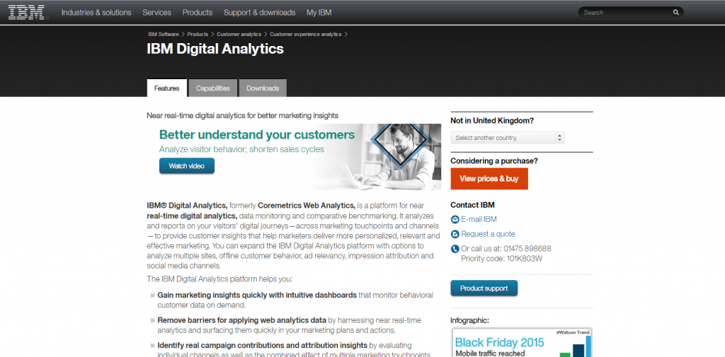 IBM Digital Analytics homepage image