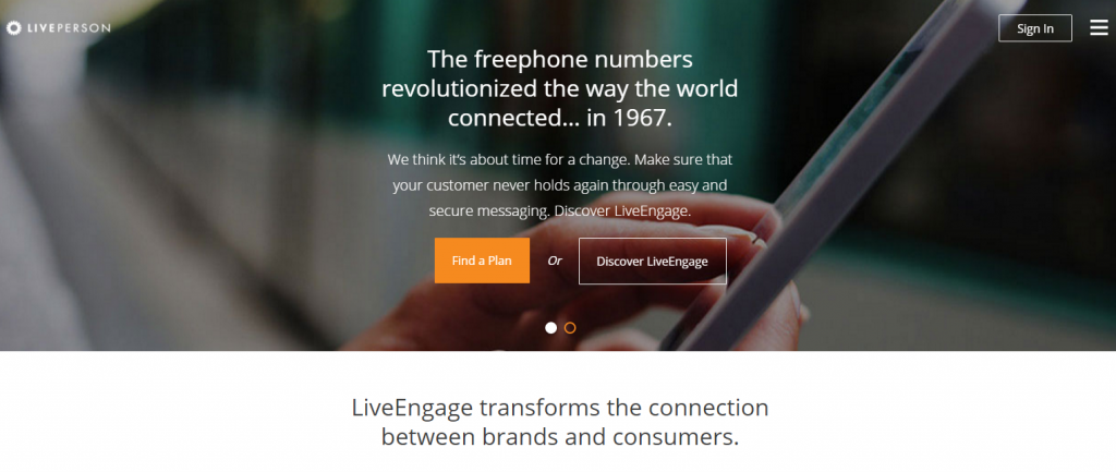 Image of Liveperson.com homepage