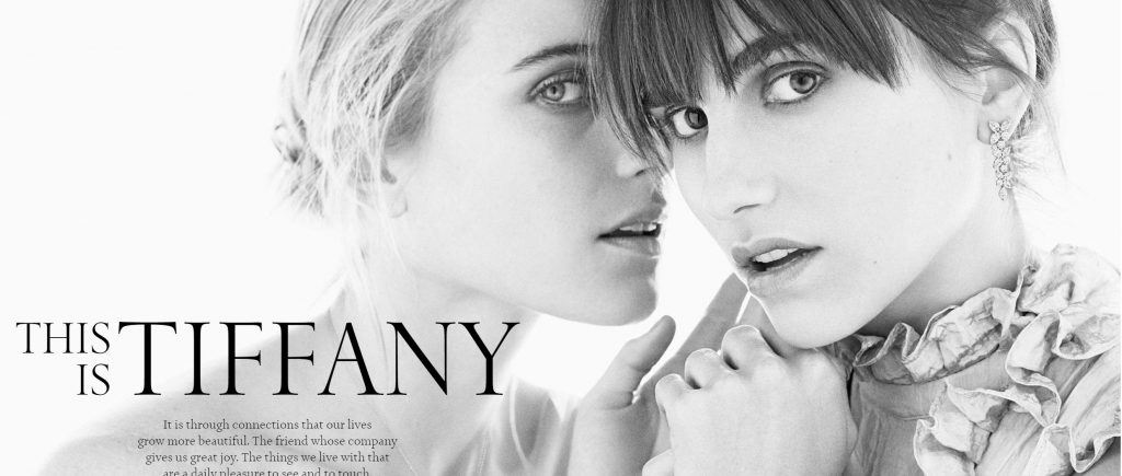 Image of two models from Tiffany.com homepage