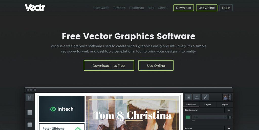 Image of vectr.com homepage