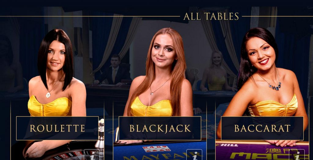 Image of models on WilliamHill.com Live Casino homepage
