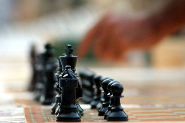 Image of Chess board and pieces