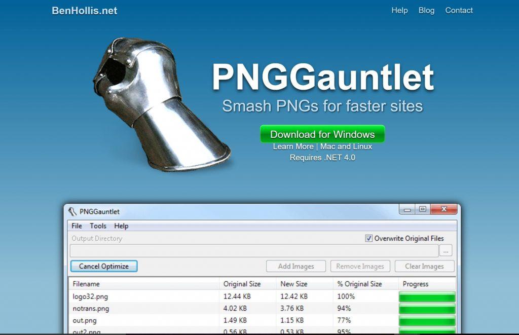 Image of PNGGauntlet.com homepage