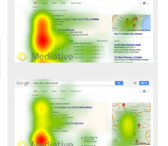 Image of 2015 Google Search eye tracking study