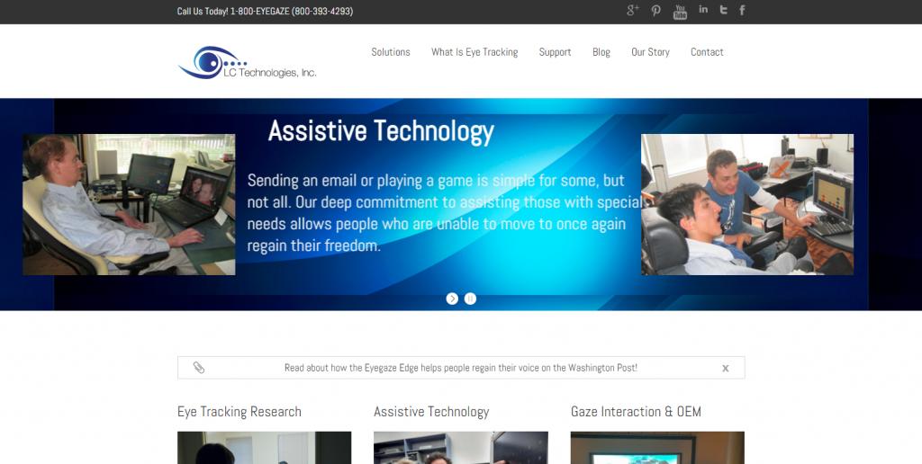 image of eyegaze.com homepage