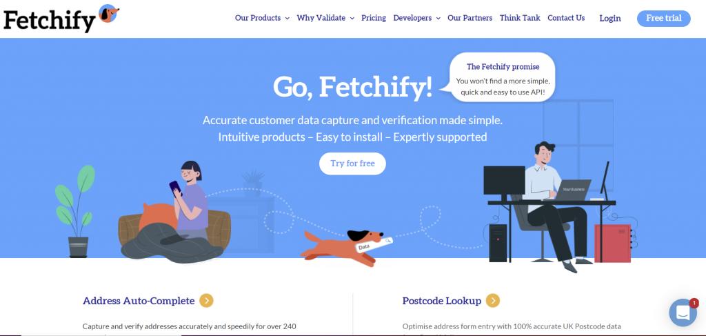 Fetchify homepage