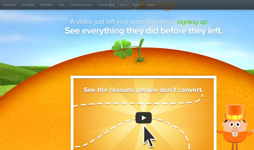 Image of Luckyorange.com homepage