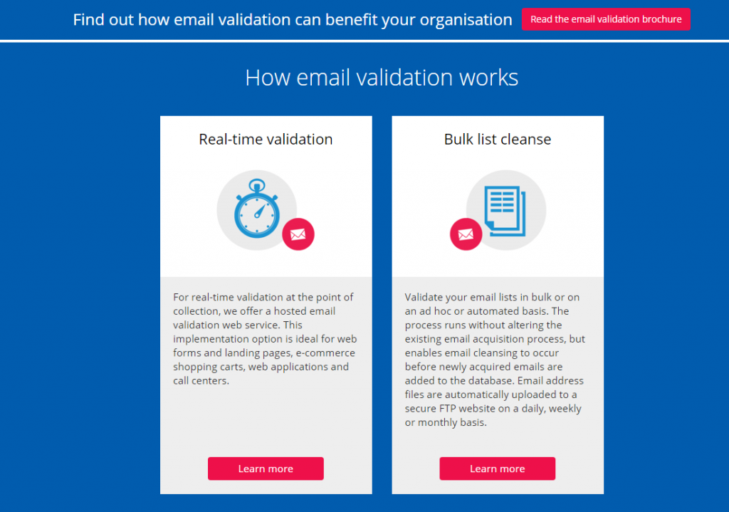 Image of Experian email verification page