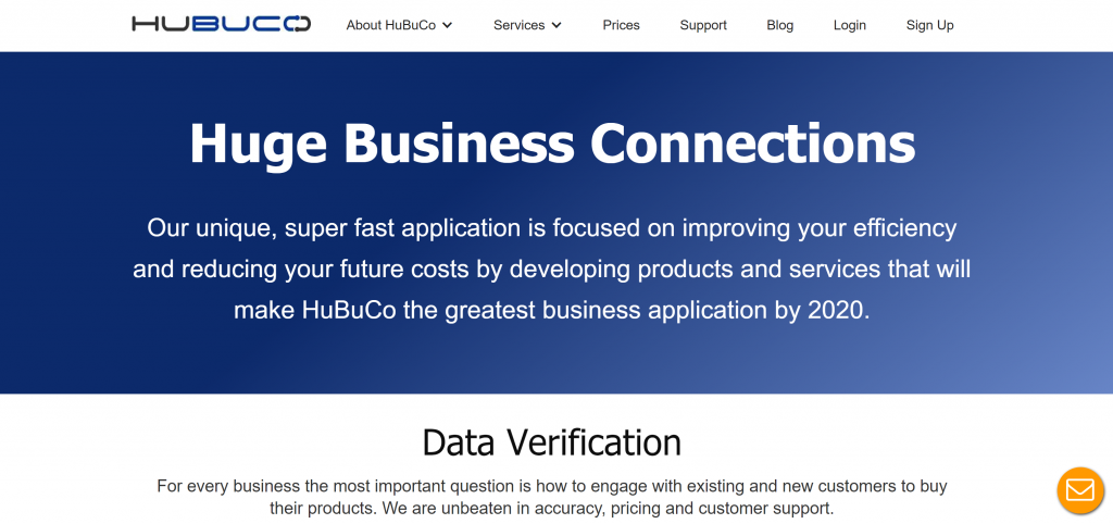 Image of HuBuCo.com homepage