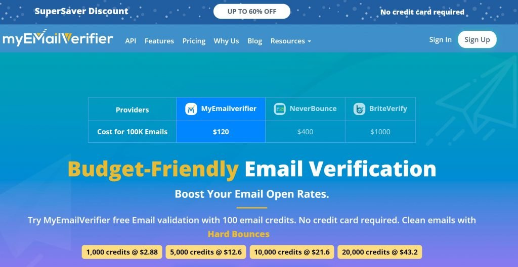 Myemailverifier homepage