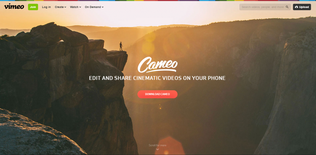 Image Cameo one page website