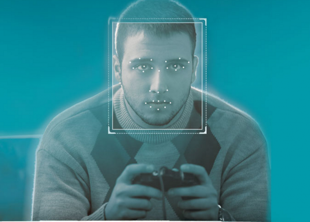 Image of the face of a gamer