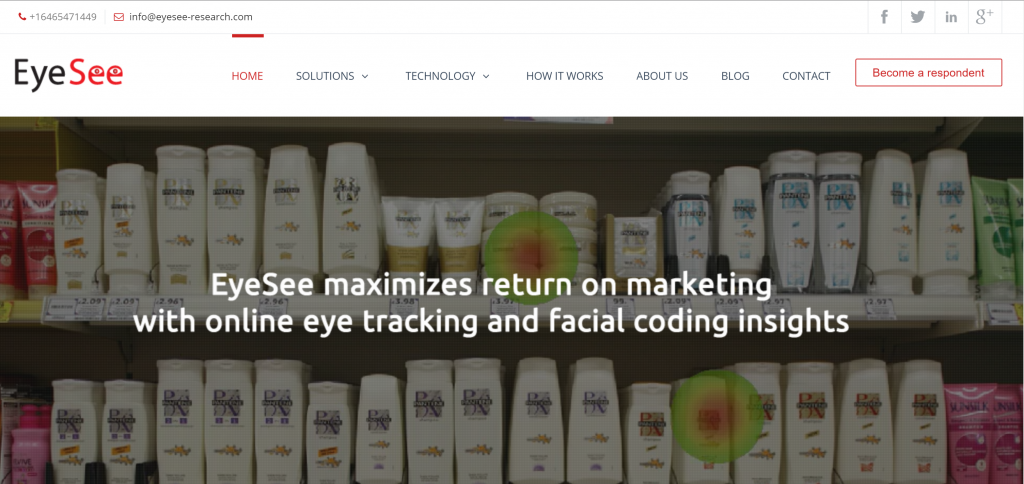 Image of eyesee-research.com homepage