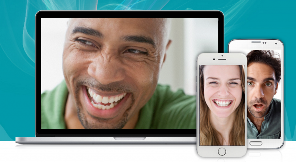 Image of faces showing emotion on different devices