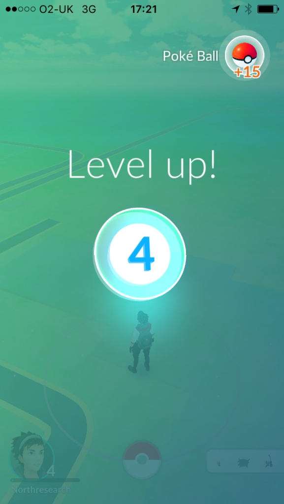 Pokemon Go level up 4