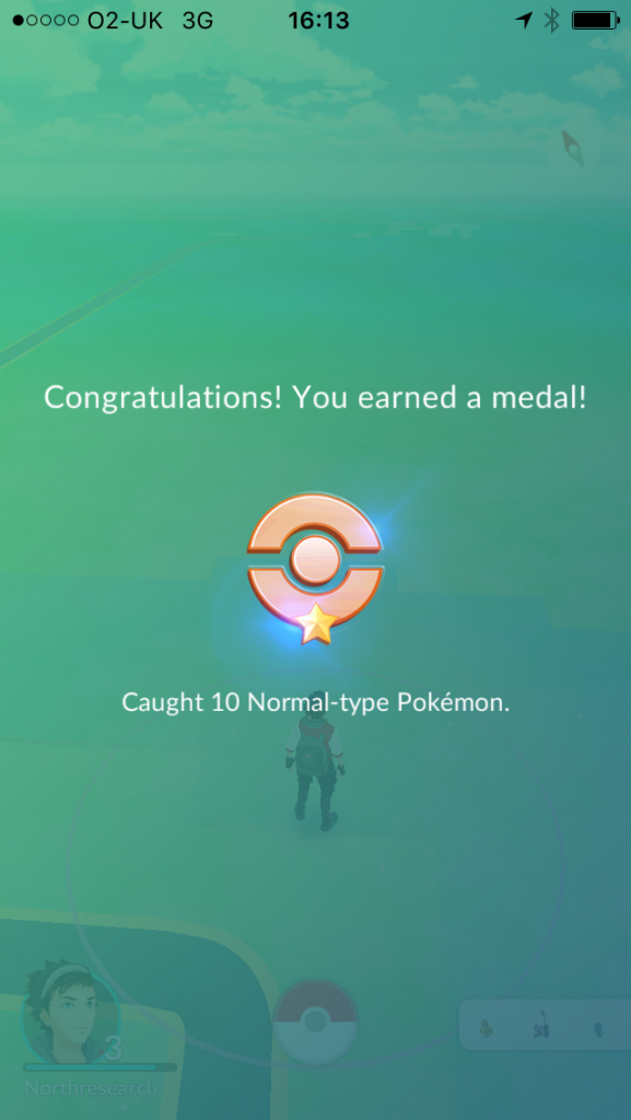 Pokemon medal for 10 normal Pokemon