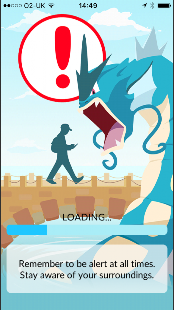Image of loading screen for Pokemon Go