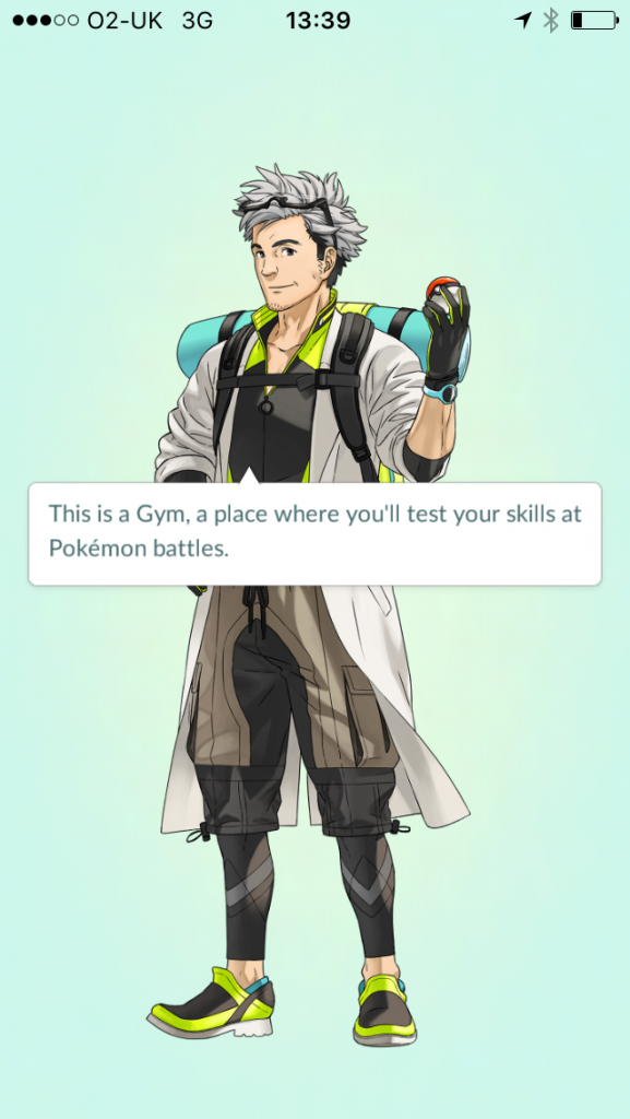Image of Pokemon Gym description