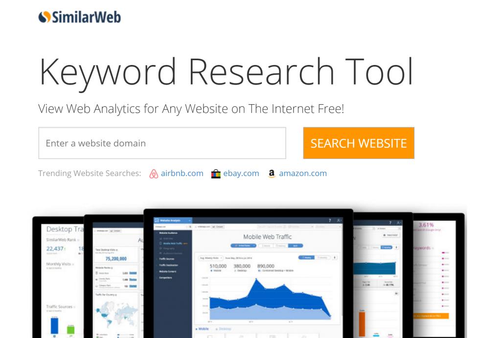 Image of try.similarweb.com homepage