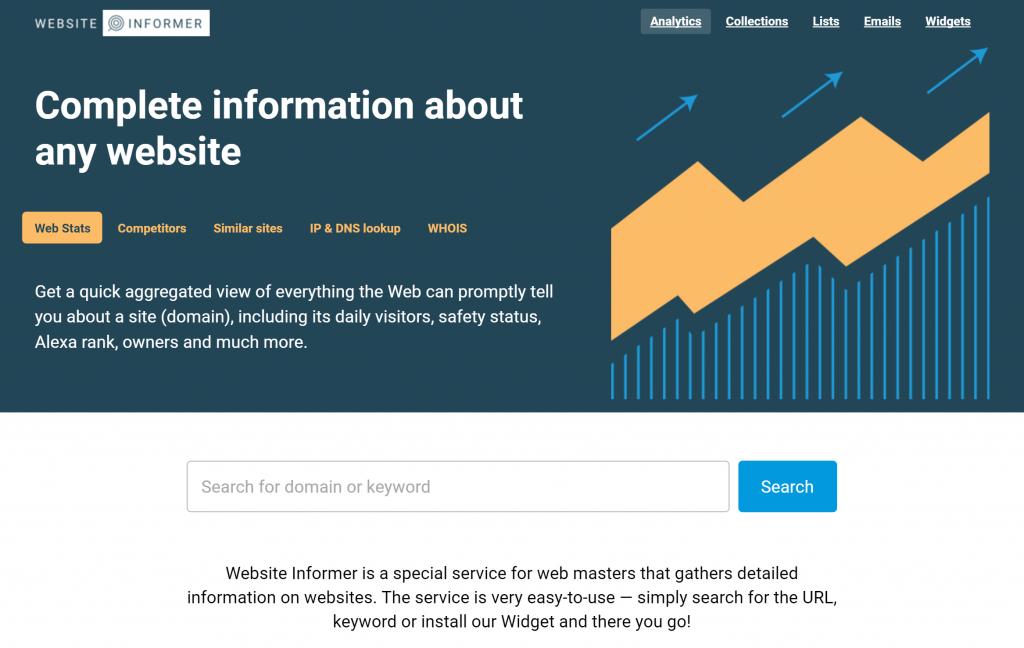 Image of website.informer.com homepage