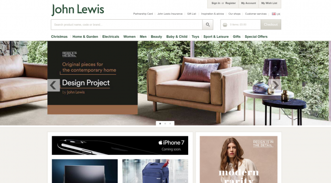 Hero image from johnlewis.com