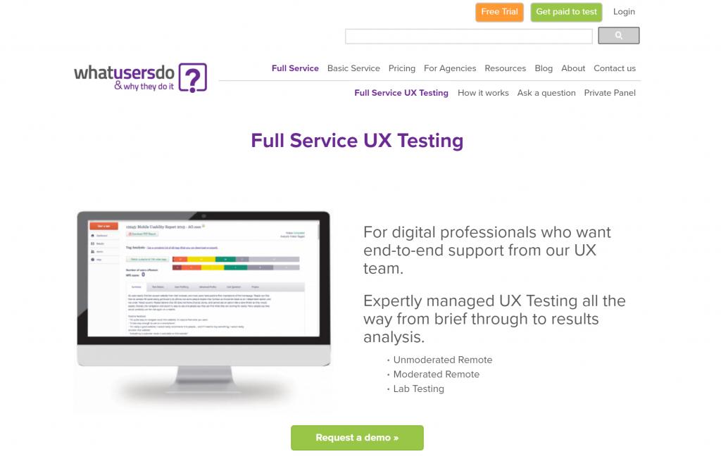 whatusersdo.com full service usability testing